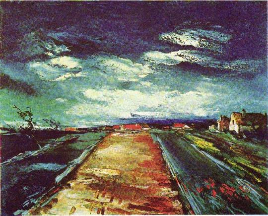 Maurice+de+Vlaminck+-+the+road+(1926)+