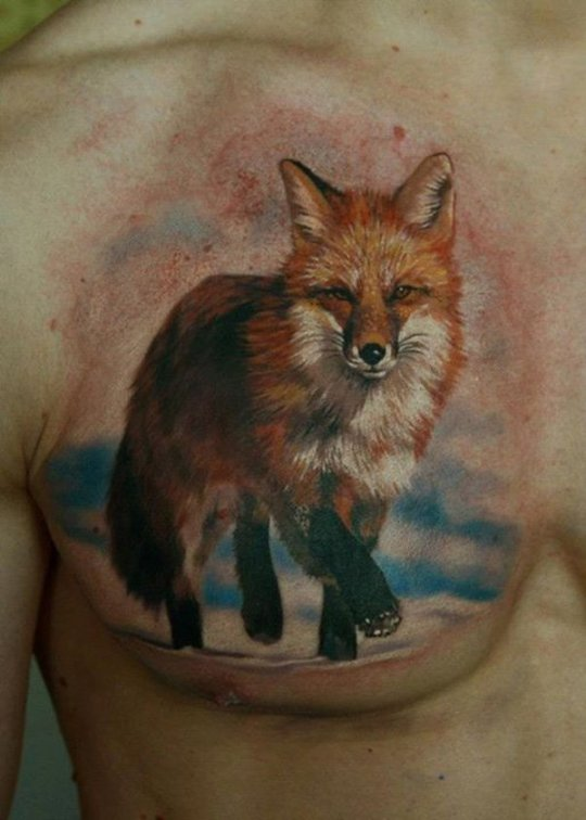 tatouage-realiste-renard