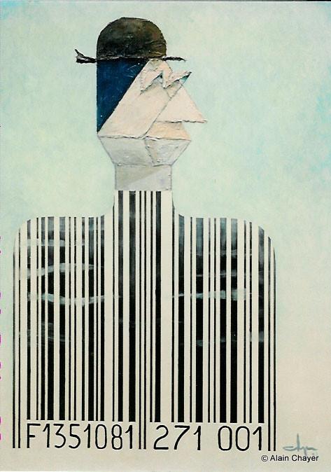 024 - Le Consommateur Moderne - 1993 100 x 81 - Acrylique sur toile